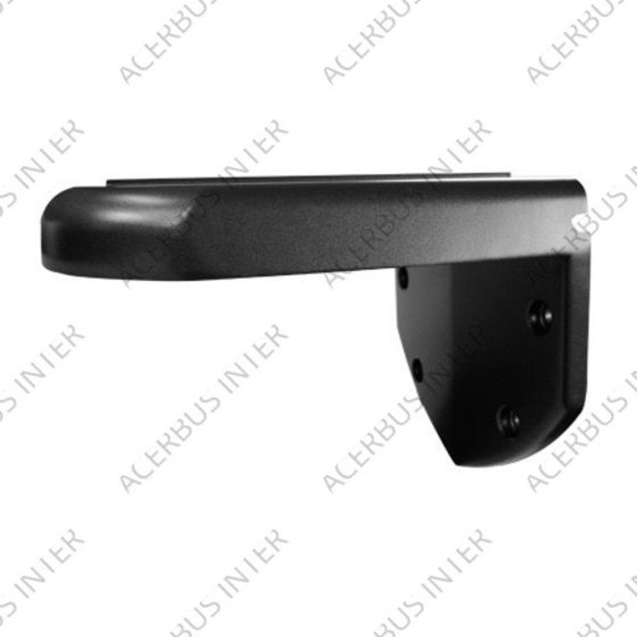 Muursteun voor Conch-dome Zwart, type 120mm