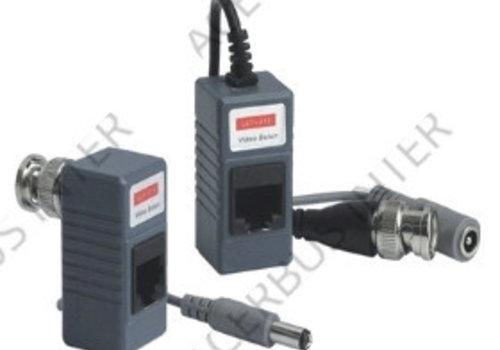 Video - UTP RJ45 omvormer met DC plug