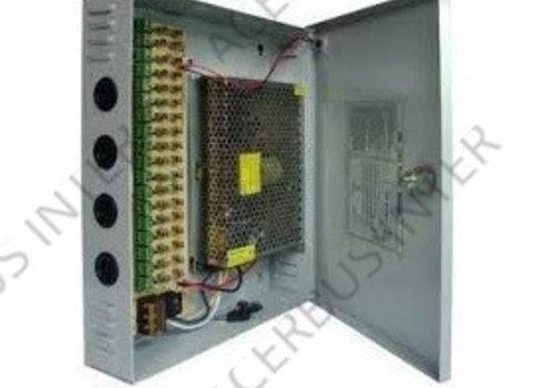 PSU CCTV 230Vac ->12Vdc-30 Amp, 18 Uitgangen