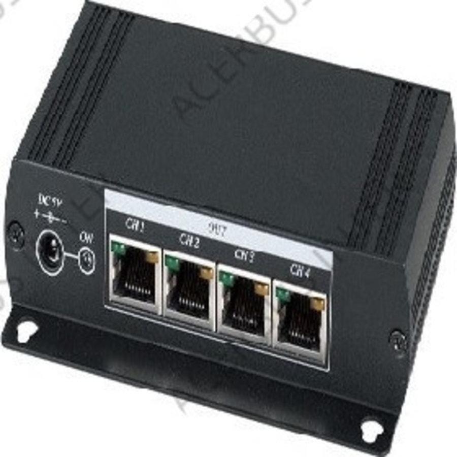 CAT5 VGA 1 in 5 uit lange afstand verdeler