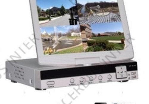 NVR met LCD scherm, 4 kanaals voor IP camera, + HDMI