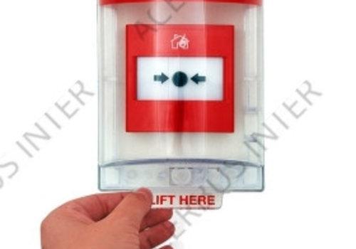 Afdekkap voor handbrandmelder, inbouw incl. sirene