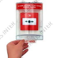 Afdekkap weersbestendig tbv handbrandmelder, opb.excl.sirene