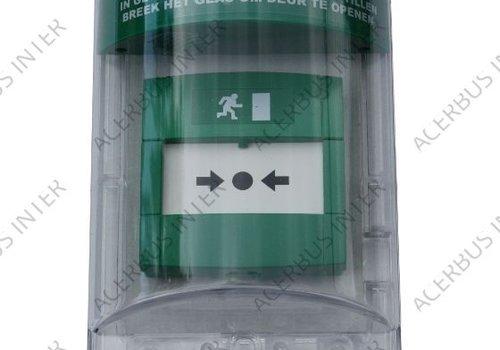 Afdekkap voor groene handmelder, opbouw excl. sirene