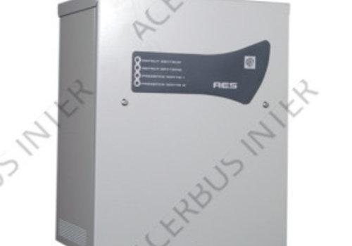 AES Voeding EN54-4, 24V-8A. 2x38Ah accu laadunit.