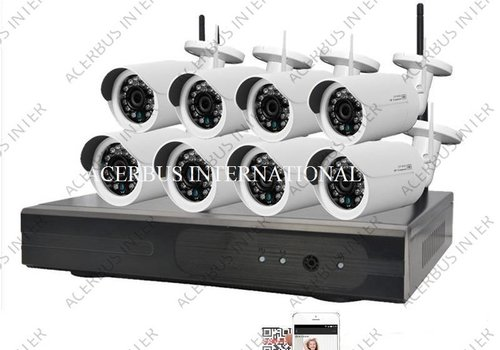 HD cameraset, inclusief 8 all-in-one camera's + voeding