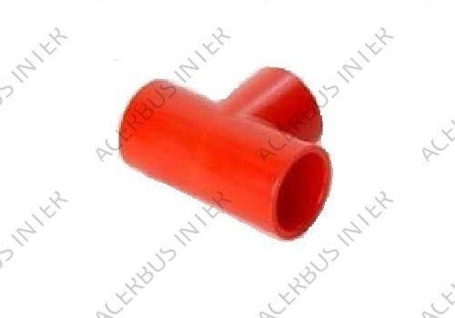 T- stuk lijm voor buis 25mm rood (10-pak)