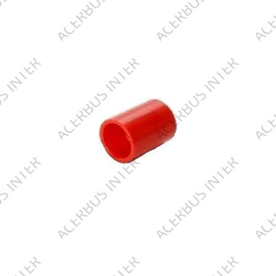 Koppelstuk lijm 25mm diameter rood (10-pak)