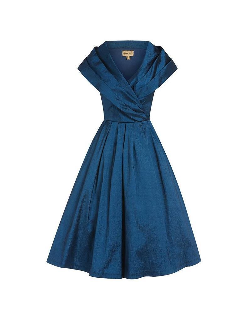 Lindy Bop Lindy Bop 'Amber' Blue Dress