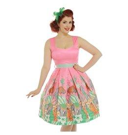 Lindy Bop Lindy Bop 'Mona' Pink Circus dress