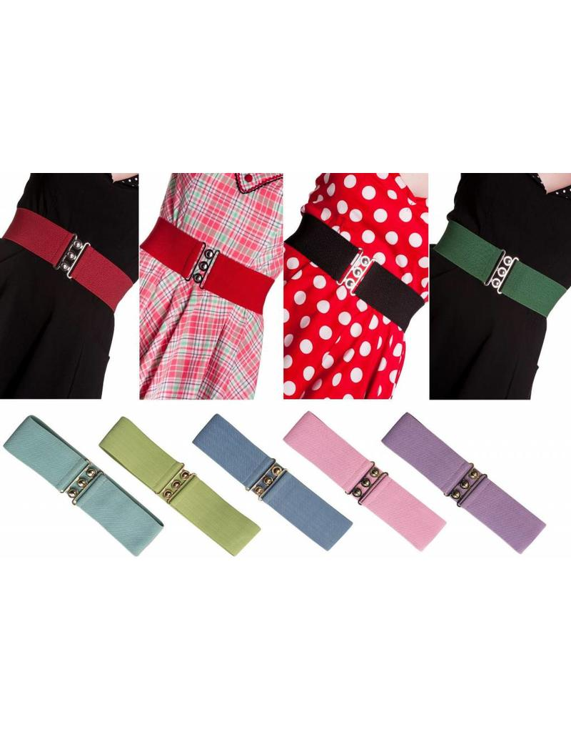 Hell Bunny Hell Bunny stretch belt - pink