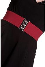 Hell Bunny Hell Bunny stretch belt - burgundy