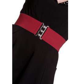 Hell Bunny Hell Bunny stretch belt - burgundy