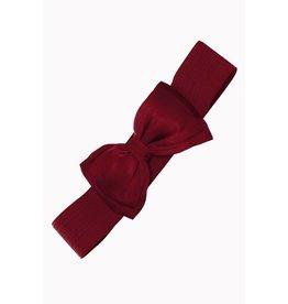Banned Belt bow bordeaux