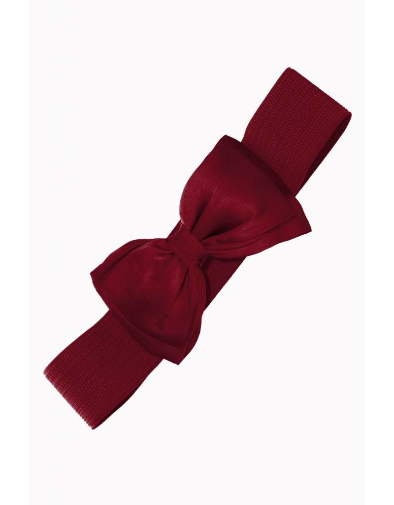 Banned Belt with bow bordeaux