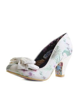 Irregular Choice Ban Joe white floral