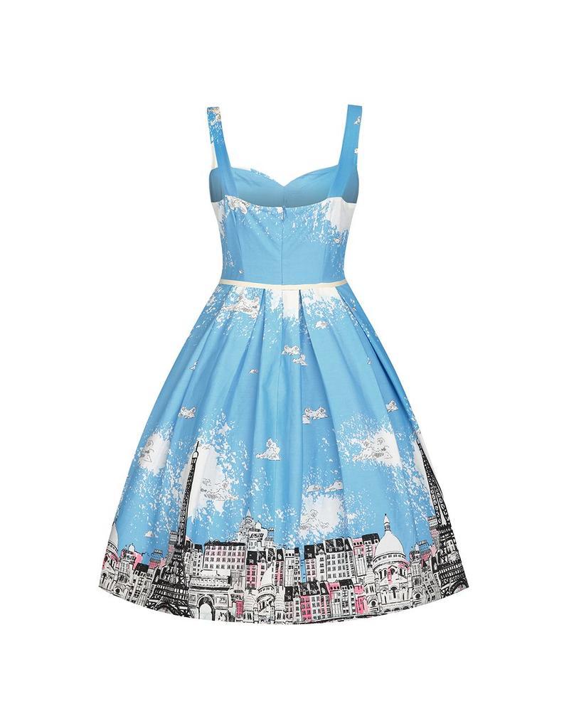 Lindy Bop 'Bernice' Paris Border Swing Dress