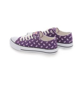 Lindy Bop Purple Unicorn Print Sneakers