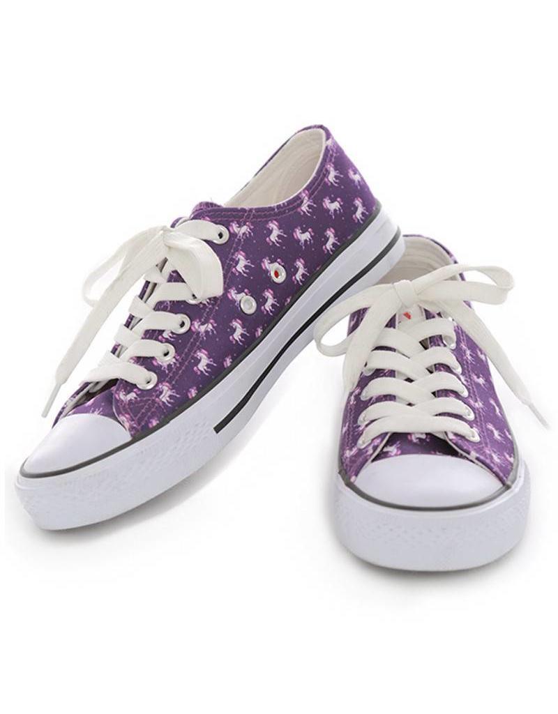 Purple Unicorn Print Sneakers - The Little Shop of Colours