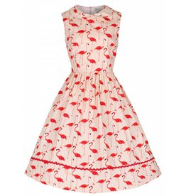 Lindy Bop 'Sammy' Flamingo Print Dress
