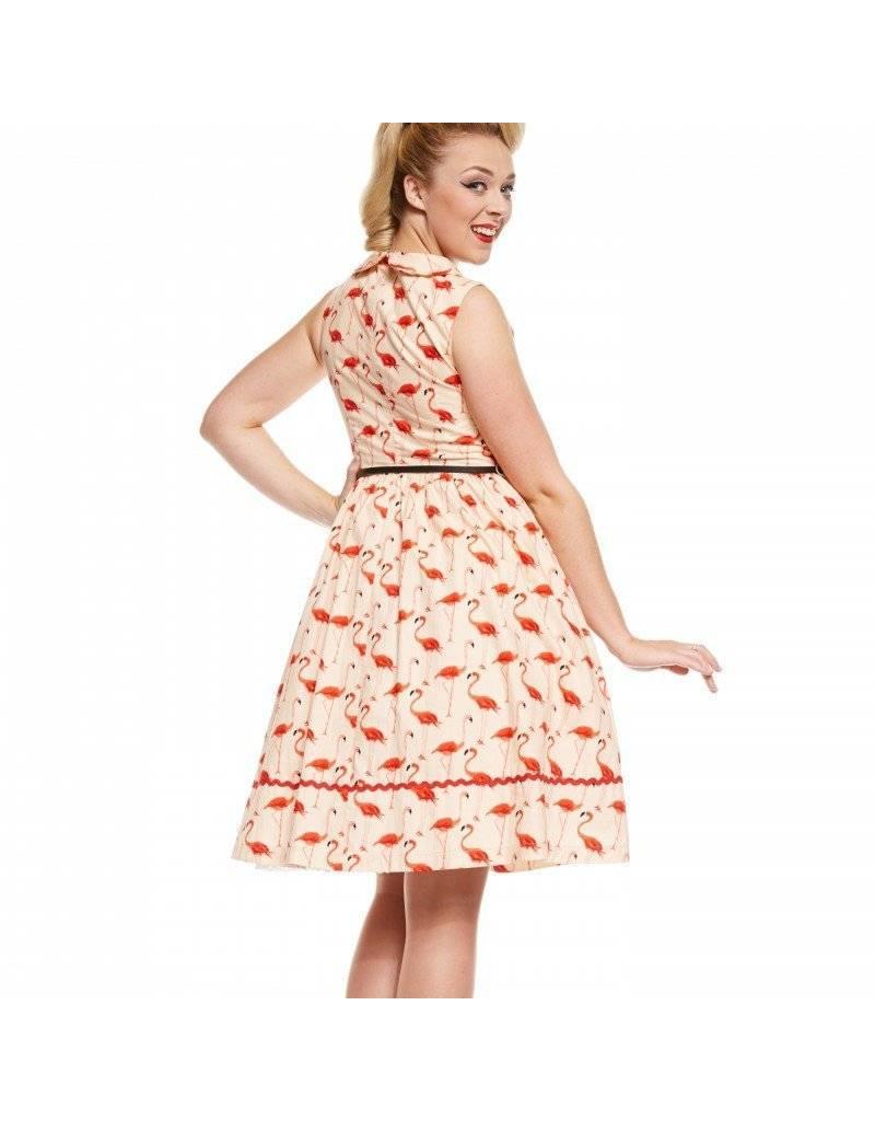 Lindy Bop 'Sammy' Flamingo Print Dress
