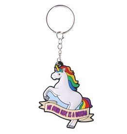 Unicorn keychain 'My other ride is a unicorn'