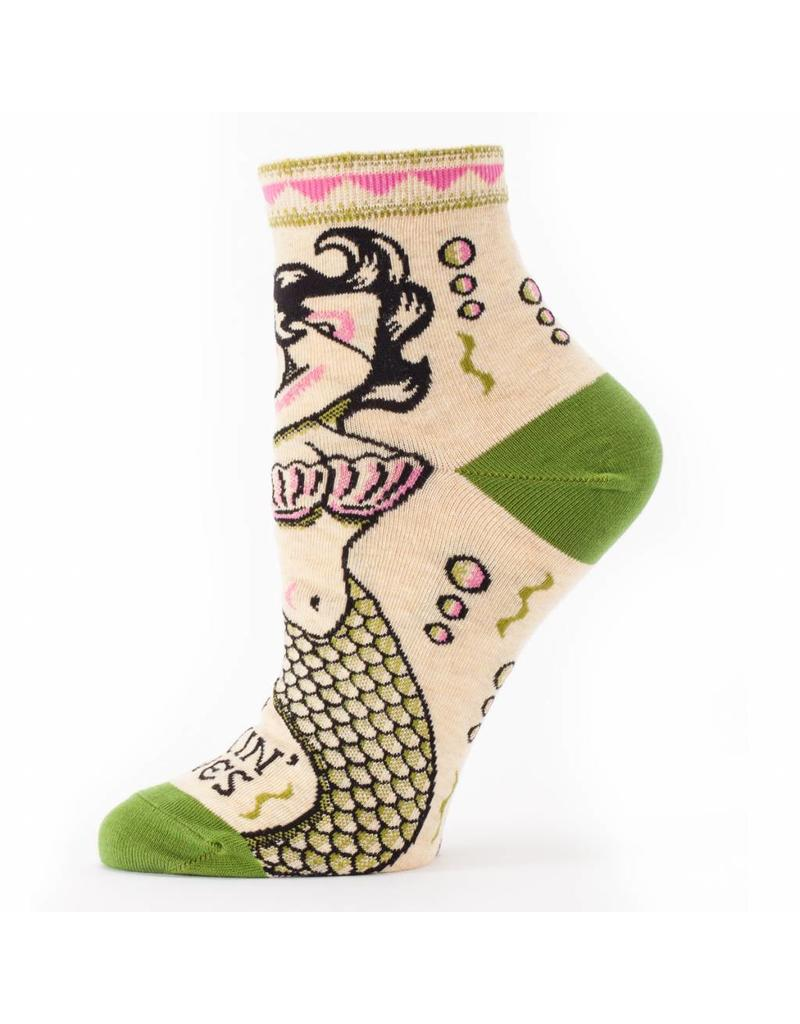 Blue Q Makin Waves mermaid socks