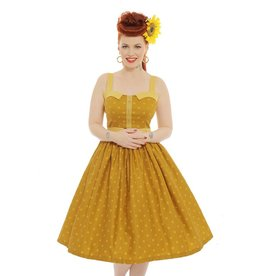 Lindy Bop 'Imelda' Mustard Dress