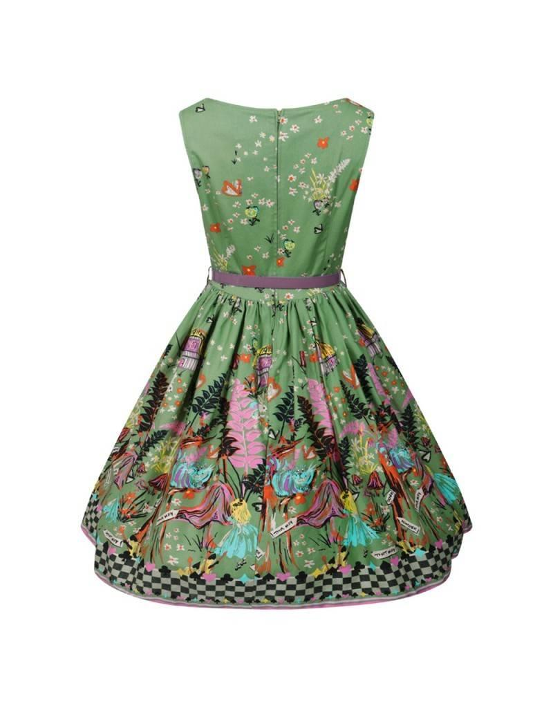 Lindy Bop 'Alice Through The Looking Glass' Dress