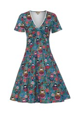 Lindy Bop 'Oskana' Russian Folk Print Dress