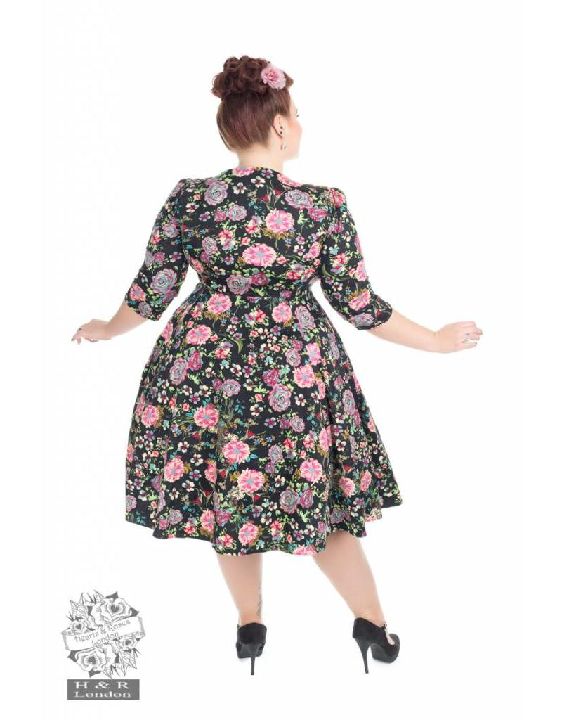 Hearts & Roses Romantic Bloom ¾ Sleeves Dress