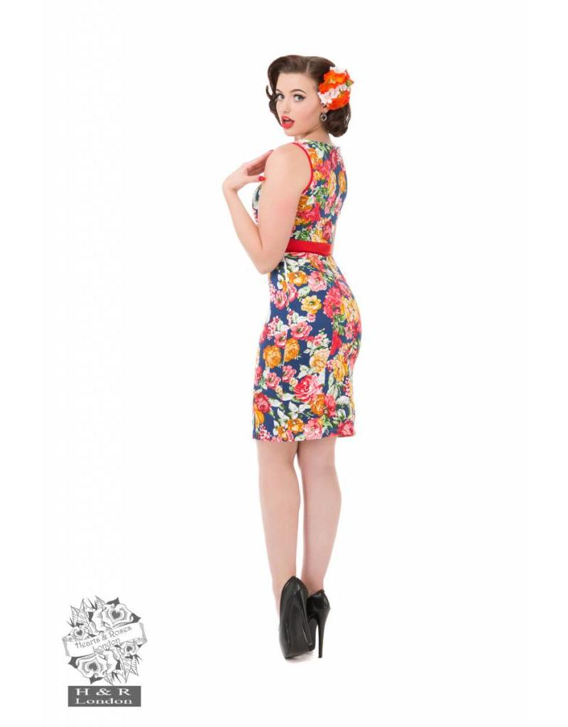 Hearts & Roses Tropical Floral Wiggle Dress