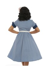 Lindy Bop Courtney Pale Blue Polka Dot Dress