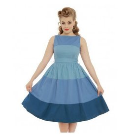 Lindy Bop 'Audrey' Blue Striped Dress