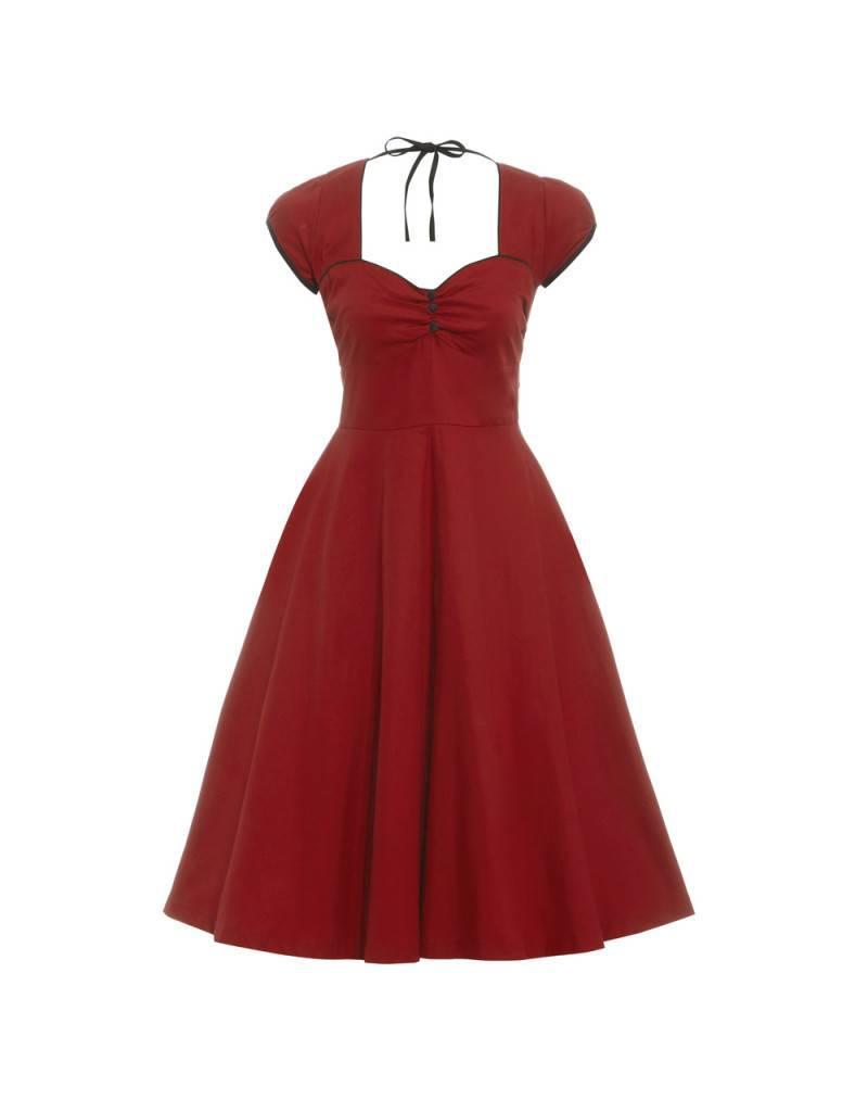 Lindy Bop Bella Wine dress