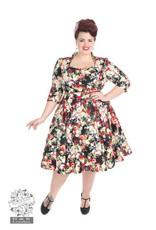 Hearts & Roses Thorny Rose 3/4 Sleeve Dress