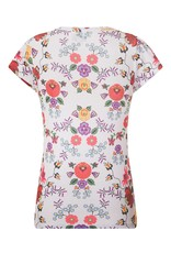 Lindy Bop 'Tess' White Quaint Floral Top