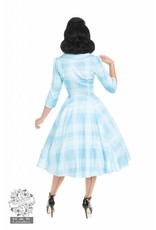 Hearts & Roses Sweet Blue Checked Dress