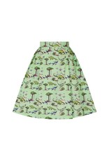 Lindy Bop 'Marie' Green Dinosaur Skirt