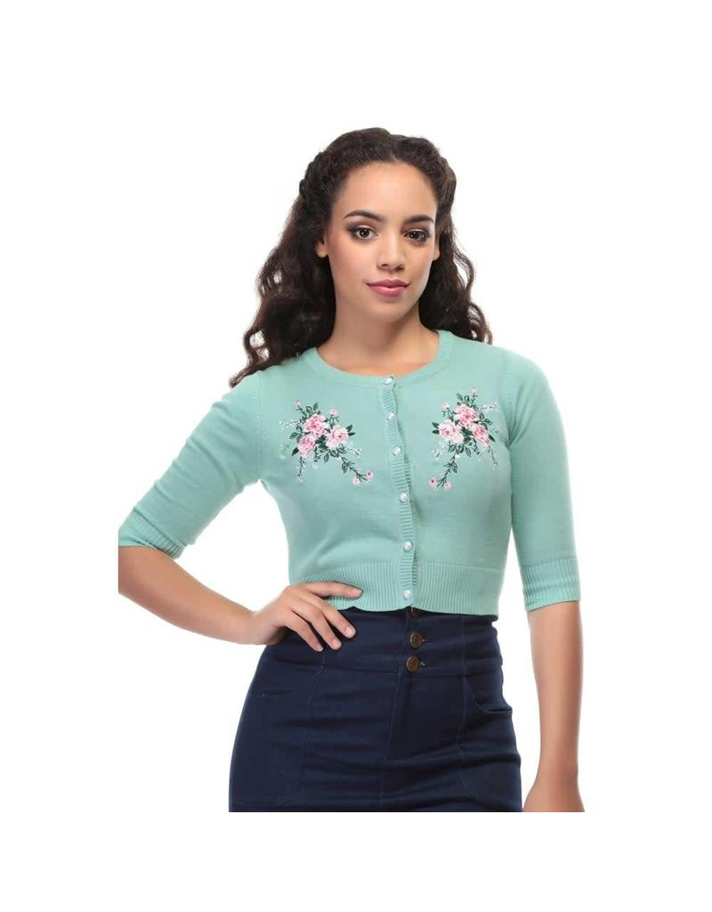 Collectif Lucy Romantic Floral Cardigan