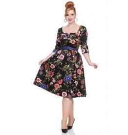 Voodoo Vixen Allie Dark Floral Dress
