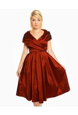 Lindy Bop Amber Rust Red Dress