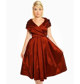 Lindy Bop Amber Rust Red Dress