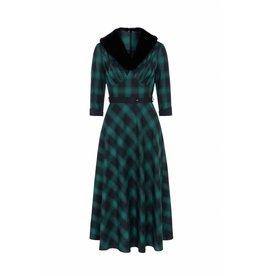 Voodoo Vixen Lola Tartan Flare Dress B-KEUZE