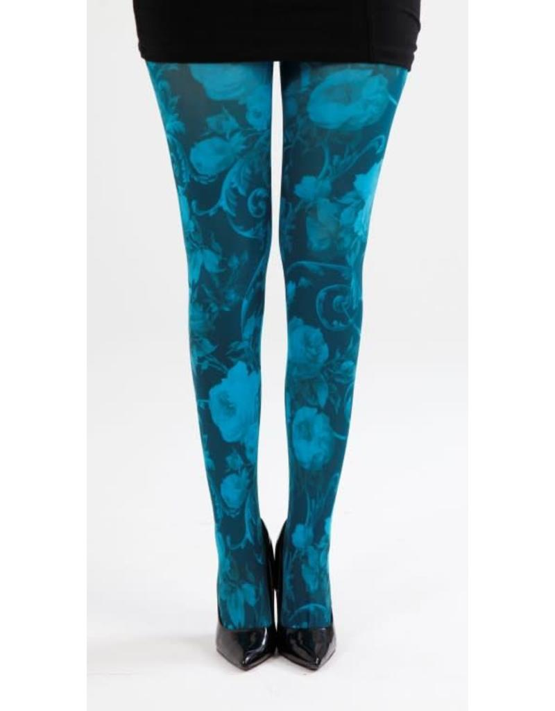 Pamela Mann Twilight printed tights - Turqouise