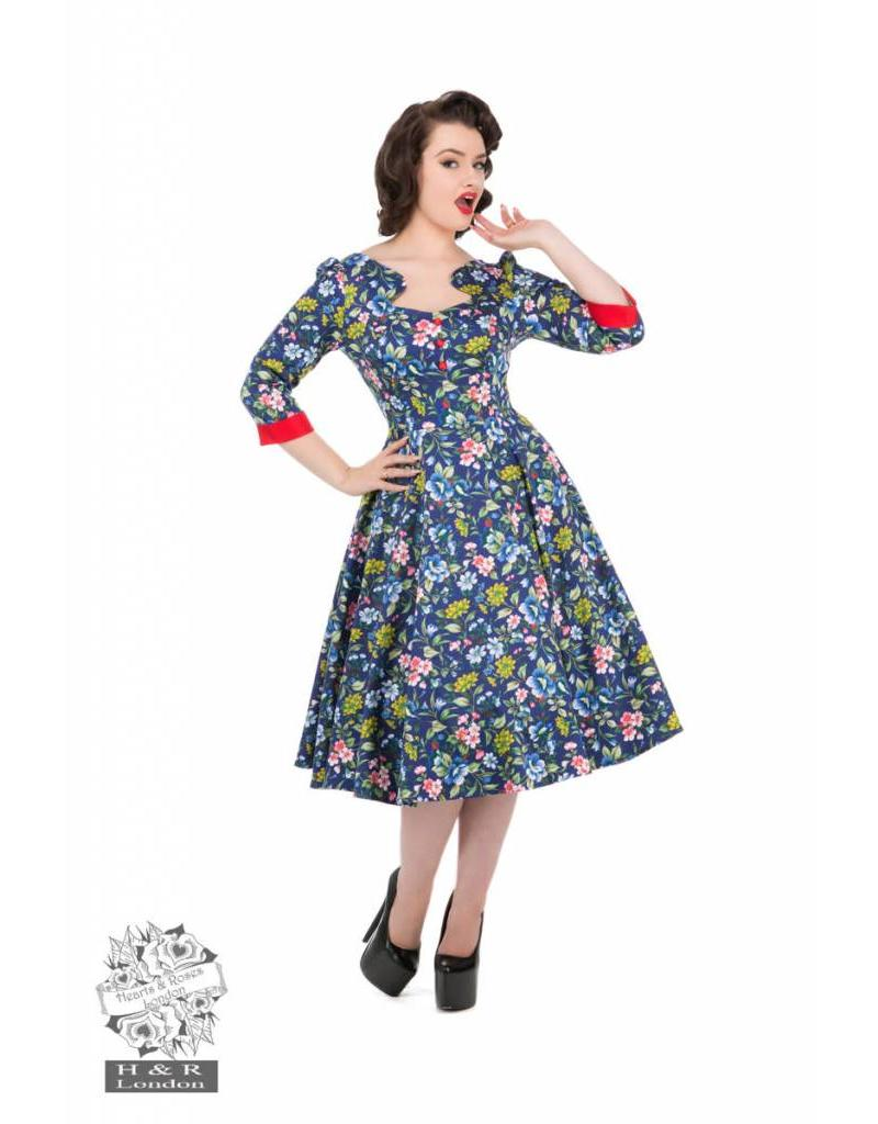 Hearts & Roses Oxford Blue Dress