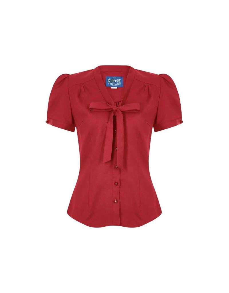 Collectif Tura Red Blouse