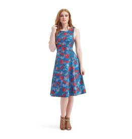 Collectif Bright & Beautiful Sandy Dandy Floral Dress