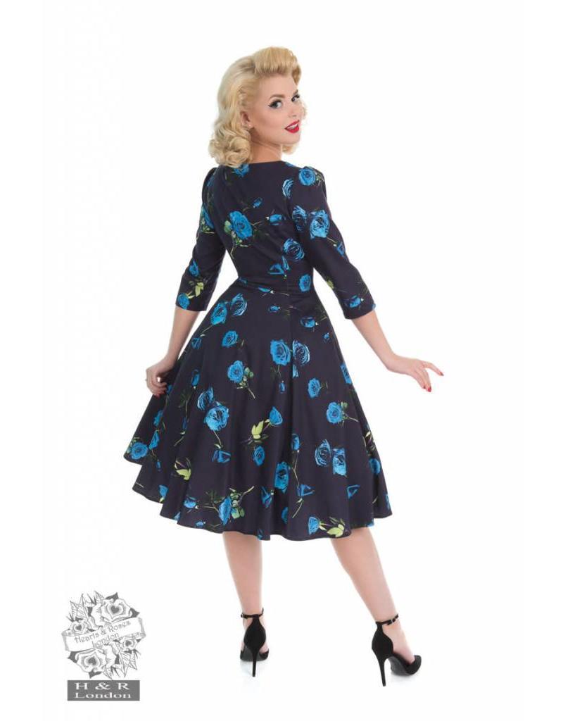 Hearts & Roses Blue Melody Dress