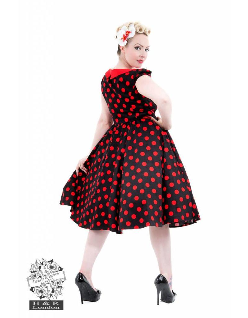 Black Red Large Polka Dot Dress